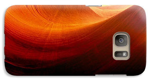Galaxy Case featuring the photograph Somewhere In America Series - Red Waves In Antelope Canyon by Lilia D