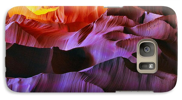 Galaxy Case featuring the photograph Somewhere In America Series - Transition Of The Colors In Antelope Canyon by Lilia D
