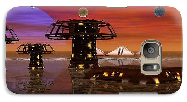 Galaxy Case featuring the digital art Somewhere In Space by Jacqueline Lloyd