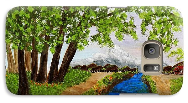 Galaxy Case featuring the painting Somewhere In Time by Celeste Manning
