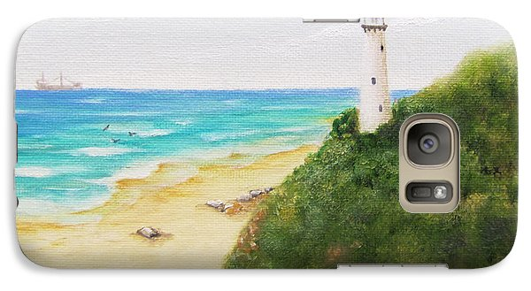 Galaxy Case featuring the painting Somewhere There Is A Lighthouse by Jimmie Bartlett