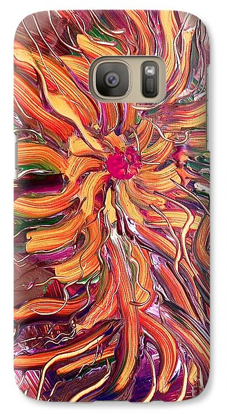 Galaxy Case featuring the painting Sommer by Nico Bielow