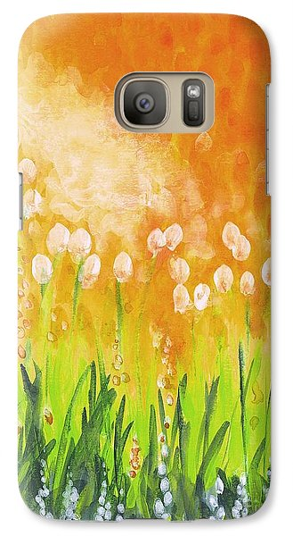 Galaxy Case featuring the painting Sonbreak by Holly Carmichael
