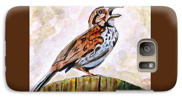 Galaxy Case featuring the painting Song Sparrow by Angela Davies