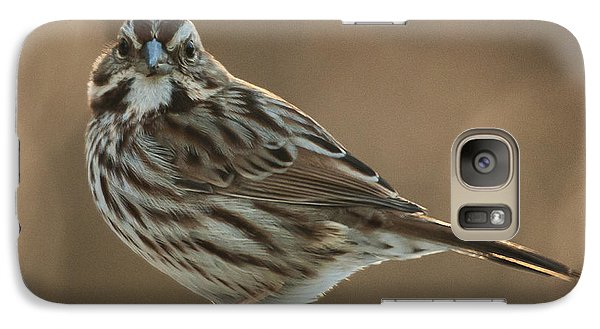 Galaxy Case featuring the photograph Song Sparrow by Jim Moore