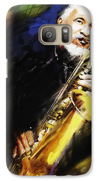 Galaxy Case featuring the painting Sonny Rollins Groovin' The Sax by Ted Azriel