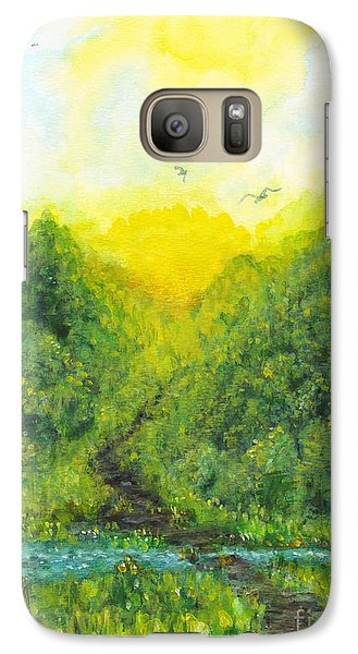 Galaxy Case featuring the painting Sonsoshone by Holly Carmichael