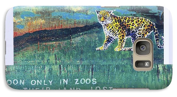 Galaxy Case featuring the mixed media Soon Only In Zoos  Their Land Lost by Mary Ann  Leitch