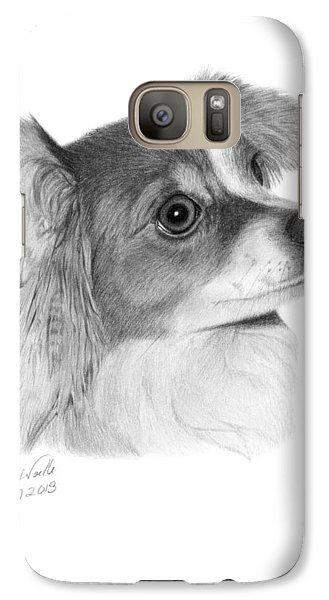 Galaxy Case featuring the drawing Sophie - 013 by Abbey Noelle