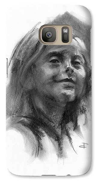Galaxy Case featuring the drawing Sophie by Paul Davenport