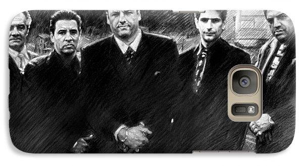 Galaxy Case featuring the drawing Sopranos James Gandolfini by Viola El