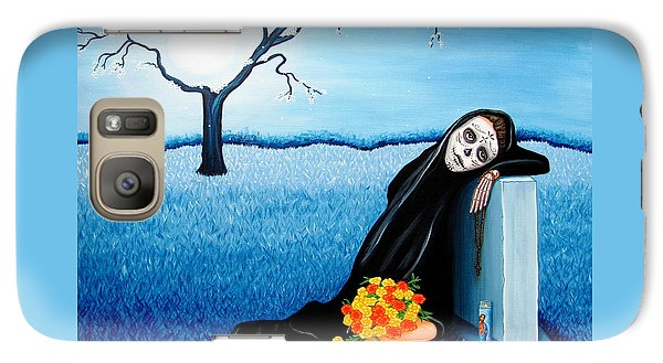 Galaxy Case featuring the painting Sorrow And Hope by Evangelina Portillo