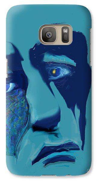 Galaxy Case featuring the digital art Sorrow by Gabrielle Schertz