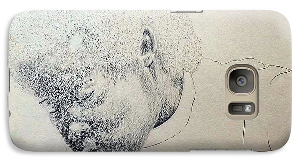 Galaxy Case featuring the drawing Sorrow by Richard Faulkner