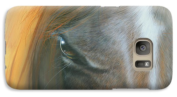 Galaxy Case featuring the painting Soul Within by Mike Brown