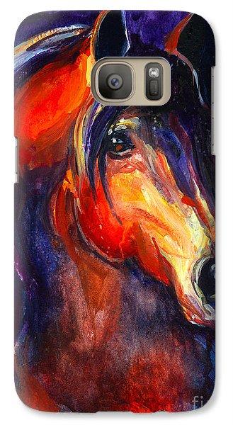 Soulful Horse Painting Galaxy Case by Svetlana Novikova