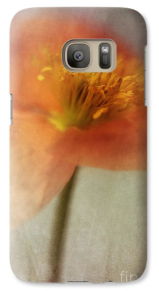 Soulful Poppy Galaxy S7 Case by Priska Wettstein