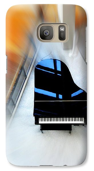 Galaxy Case featuring the photograph Sound Waves by Mary Beth Landis