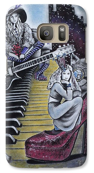 Galaxy Case featuring the drawing Sounds Of The 70s by Carla Carson