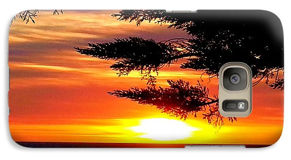 Galaxy Case featuring the photograph South Bay Sunset by Steed Edwards