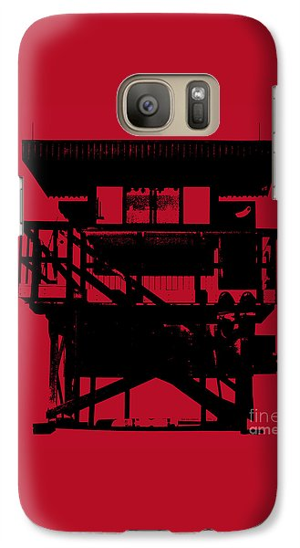 Galaxy Case featuring the digital art South Beach Lifeguard Stand by Jean luc Comperat