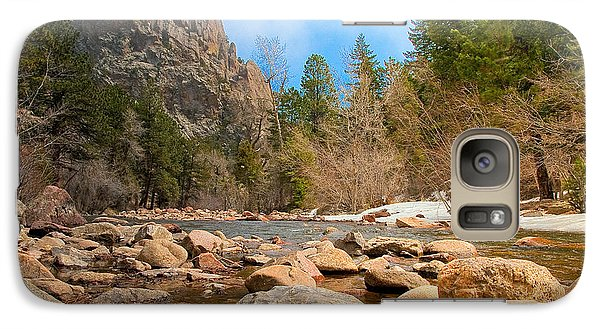 Galaxy Case featuring the photograph South Boulder Creek - Eldorado Canyon State Park by Tom Potter