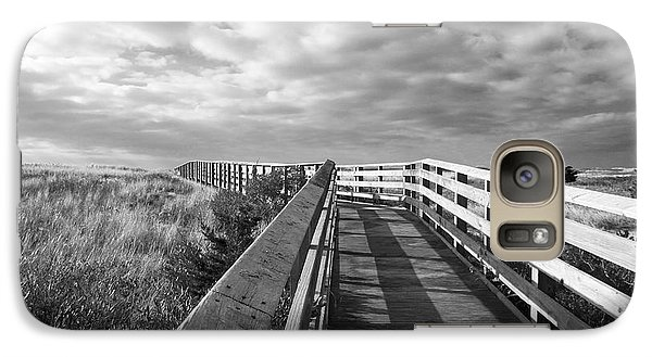 Galaxy Case featuring the photograph South Cape Beach Boardwalk by Brooke T Ryan