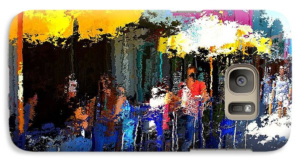 Galaxy Case featuring the mixed media South Congress by Terence Morrissey