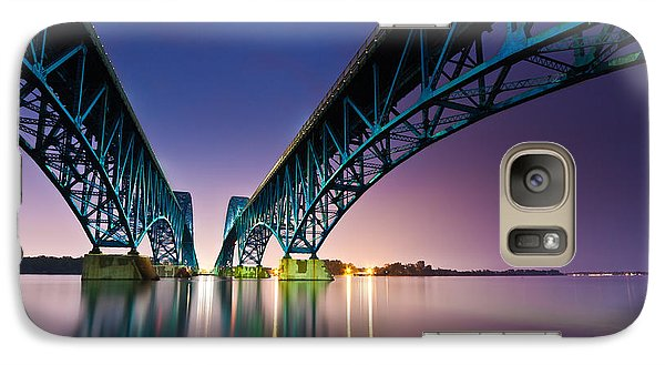 Galaxy Case featuring the photograph South Grand Island Bridge by Mihai Andritoiu