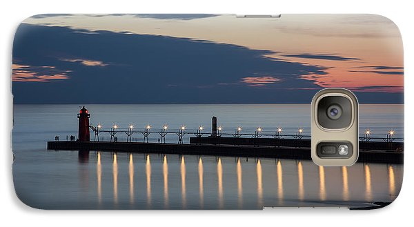 South Haven Michigan Lighthouse Galaxy S7 Case by Adam Romanowicz