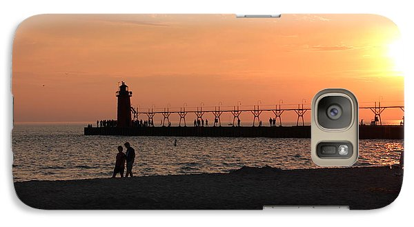 Galaxy Case featuring the photograph South Haven Sunset by Bill Woodstock