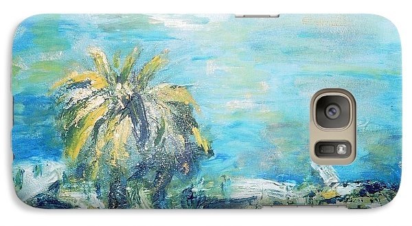 Galaxy Case featuring the painting South Of France    Juan Les Pins by Fereshteh Stoecklein