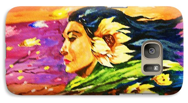 Galaxy Case featuring the painting South Sea Breeze  Fleeting Blossoms by Al Brown
