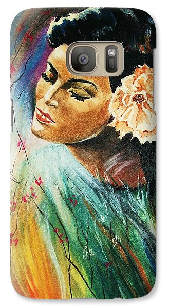 Galaxy Case featuring the painting South Sea Flower by Al Brown