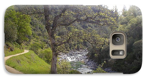 Galaxy Case featuring the photograph South Yuba Trail by Rachel Lowry