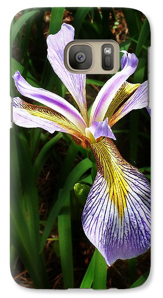 Galaxy Case featuring the photograph Southern Blue Flag Iris by William Tanneberger