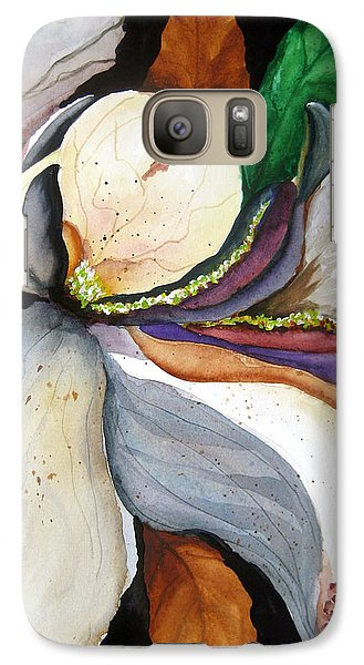 Galaxy Case featuring the painting White Glory II by Lil Taylor