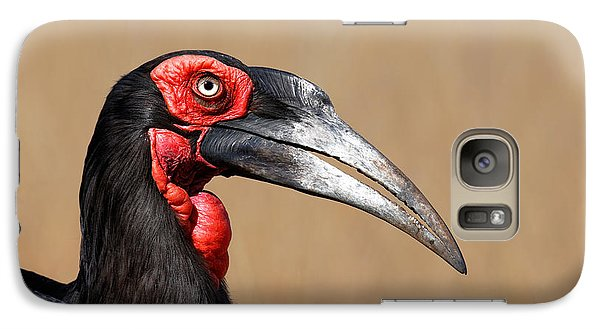 Southern Ground Hornbill Portrait Side View Galaxy S7 Case by Johan Swanepoel