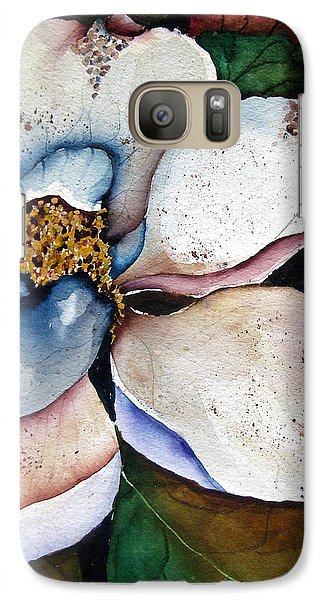 Galaxy Case featuring the painting White Glory by Lil Taylor