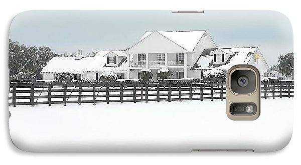 Galaxy Case featuring the photograph Snow Covered Southfork Ranch   by Dyle   Warren