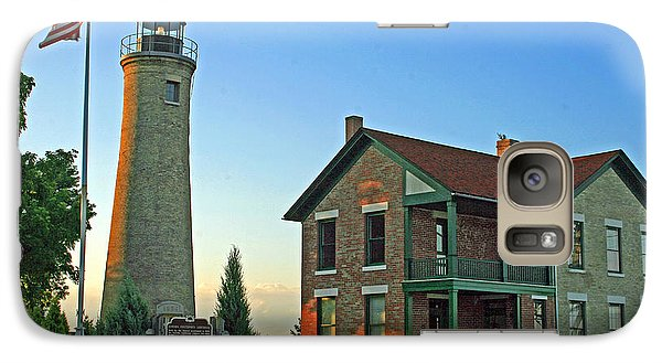 Galaxy Case featuring the photograph Southport Lighthouse On Simmons Island by Kay Novy