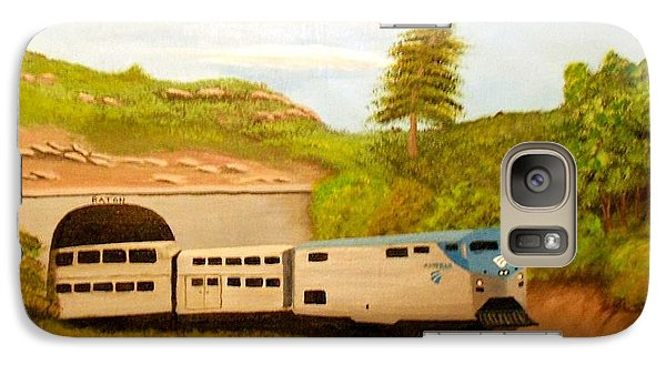 Galaxy Case featuring the painting Southwest Chief At Raton Pass by Sheri Keith