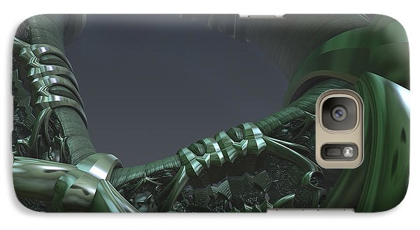 Galaxy Case featuring the digital art Space Frontier  by Melissa Messick