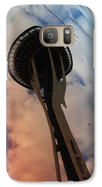 Galaxy Case featuring the photograph Space Needle Reflections IIi by Robert  Moss