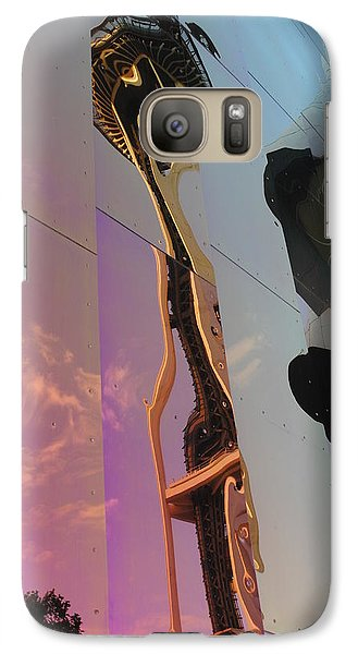 Galaxy Case featuring the photograph Space Needle Reflections Iv by Robert  Moss