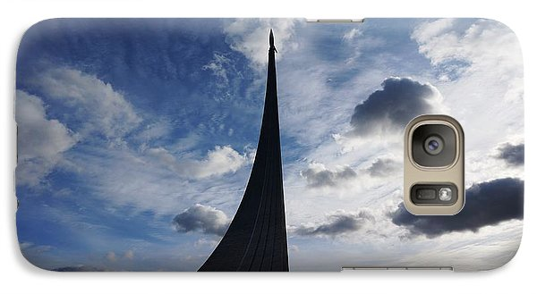 Galaxy Case featuring the photograph Space Roket Monument by Julia Ivanovna Willhite
