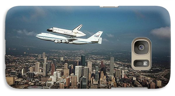 Space Shuttle Endeavour Piggyback Flight Galaxy S7 Case by Nasa/sheri Locke