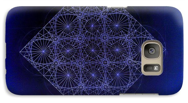 Galaxy Case featuring the drawing Space Time Sine Cosine And Tangent Waves by Jason Padgett