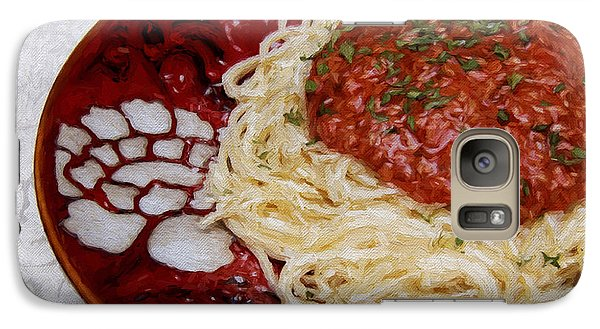 Galaxy Case featuring the photograph Spaghetti Red by Andee Design
