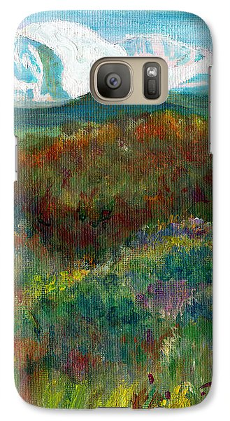 Galaxy Case featuring the painting Spanish Peaks Evening by C Sitton